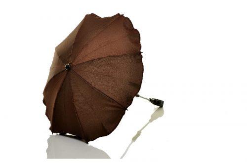 Parasolka przeciwsłoneczna do wózków dziecięcych brązowa