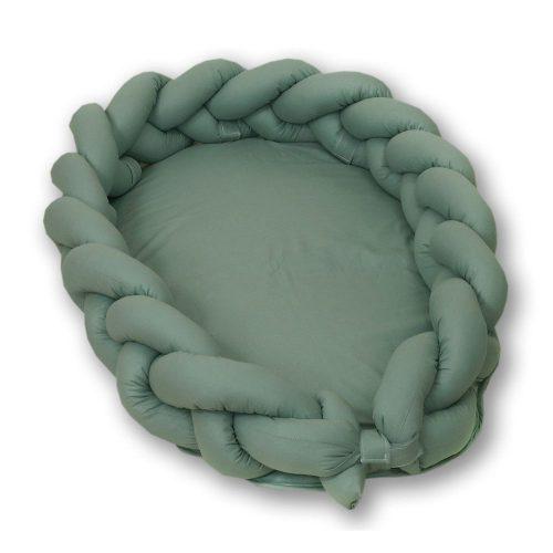 Warkocz do łóżeczka 210cm  kokon dla niemowląt 2w1 Amy niebieski