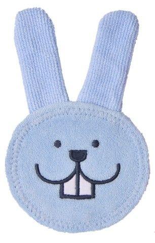 Rękawiczka do masażu dziąseł Oral Care Rabbit Mam baby niebieska