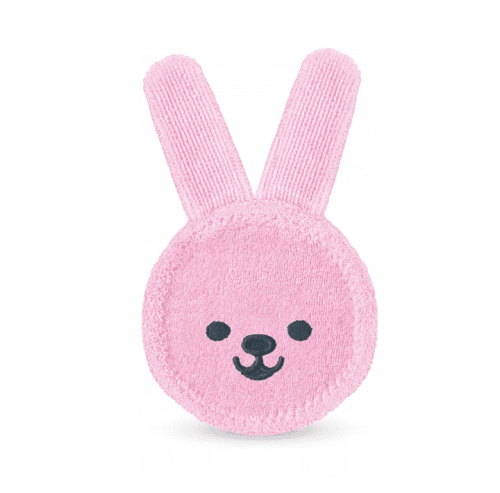 Rękawiczka do masażu dziąseł Oral Care Rabbit Mam baby różowa