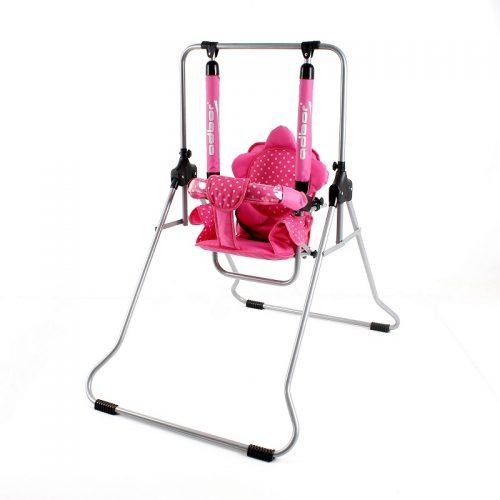Składana pokojowa huśtawka dla dzieci do 20 KG  Luna firmy Adbor Róż kropki