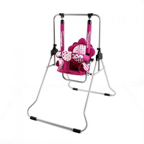 Składana pokojowa huśtawka dla dzieci do 20 KG  Luna firmy Adbor Różowe grochy