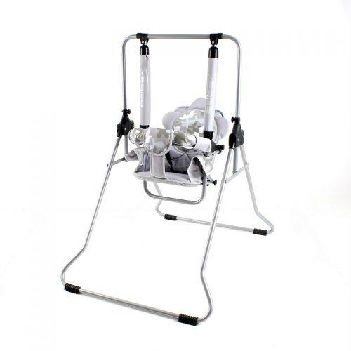 Huśtawka dla dzieci Luna pokojowa firmy Adbor dla dzieci do 20 kg Szary moro