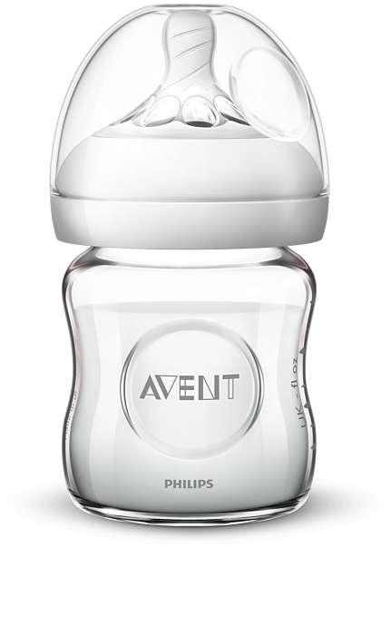 Szklana butelka do karmienia Avent Natural 2.0 120ml smoczek dla noworodków