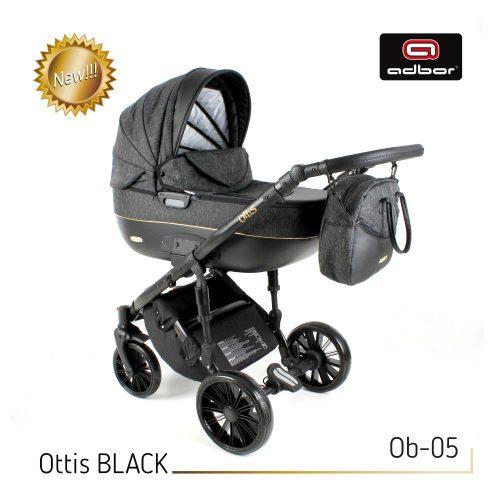 Wózek głęboko spacerowy 2w1 Adbor Ottis Black kolor Ob-05
