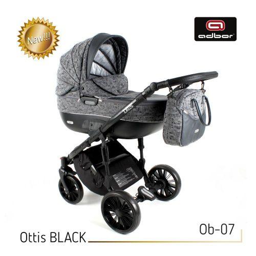 Wózek głęboko spacerowy 2w1 Adbor Ottis Black kolor Ob-07