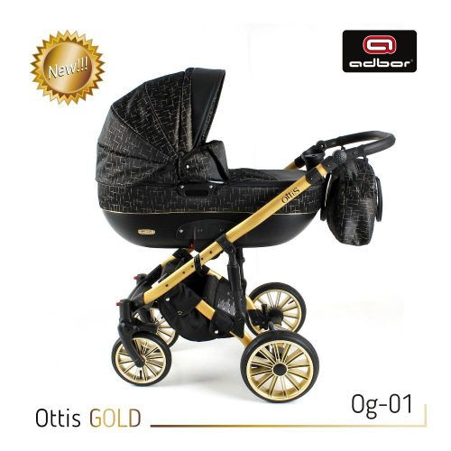 Wózek głęboko spacerowy 2w1 Adbor Ottis Gold kolor Og-03