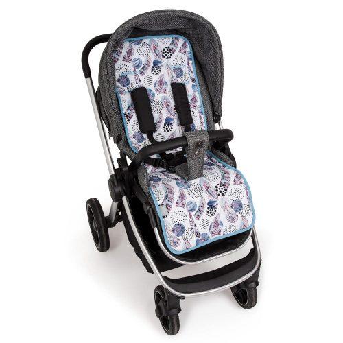 Wkładka dwustronna do wózka spacerowego Velvet + bawełna Ceba Baby Velvet Alas