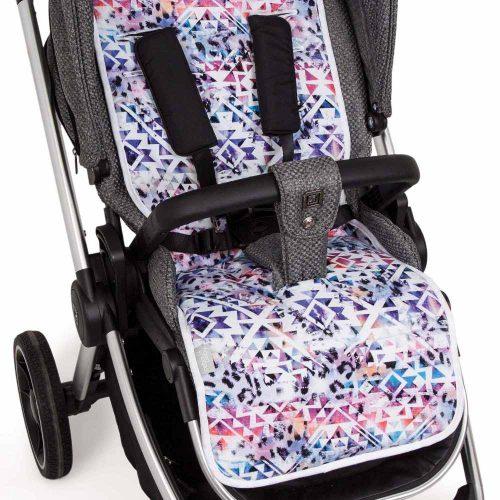 Wkładka dwustronna do wózka spacerowego Velvet + bawełna Ceba Baby Impreso