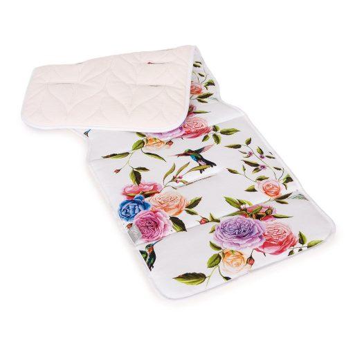 Wkładka do wózka spacerowego dwustronna  Velvet + bawełna Ceba Baby Flora Flores