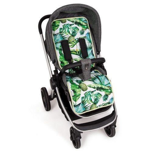 Wkładka do wózka spacerowego dwustronna  Velvet + bawełna Ceba Baby  Flora Pina