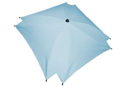 Kwadratowa parasolka przeciwsłoneczka do wózka dziecięcego błękit