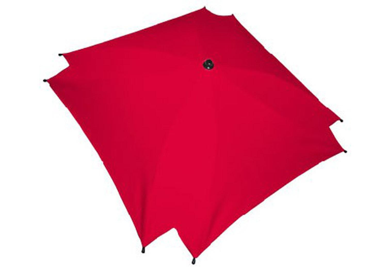 Kwadratowa parasolka przeciwsłoneczka do wózka dziecięcego czerwony