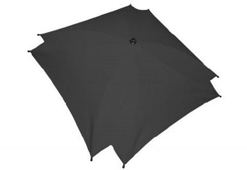 Kwadratowa parasolka przeciwsłoneczka do wózka dziecięcego grafit