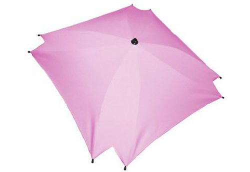 Kwadratowa parasolka przeciwsłoneczka do wózka dziecięcego jasny róż
