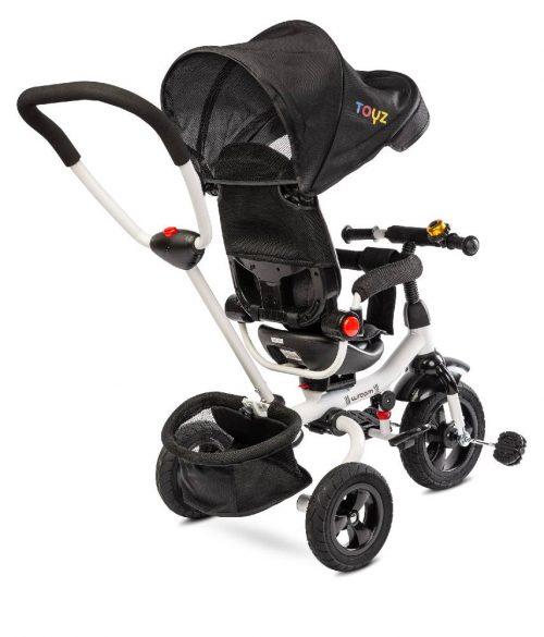Trójkołowy rowerek z pchaczem dla dziecka Toyz Wroom kolor black