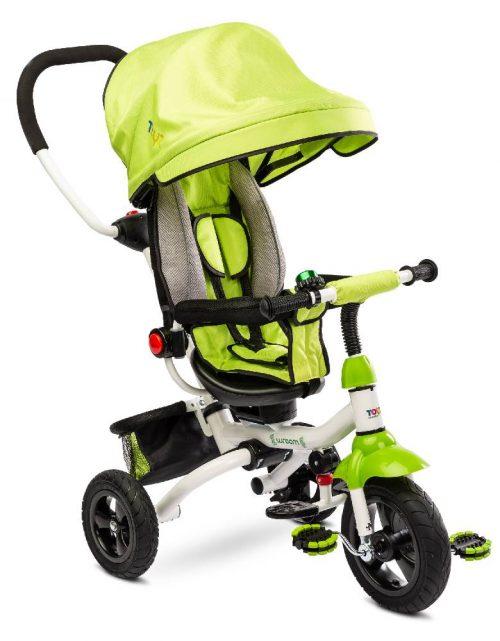 Trójkołowy rowerek z pchaczem dla dziecka Toyz Wroom Green