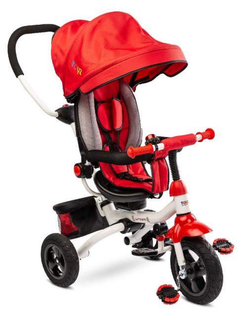 Trójkołowy rowerek z pchaczem dla dziecka Toyz Wroom red