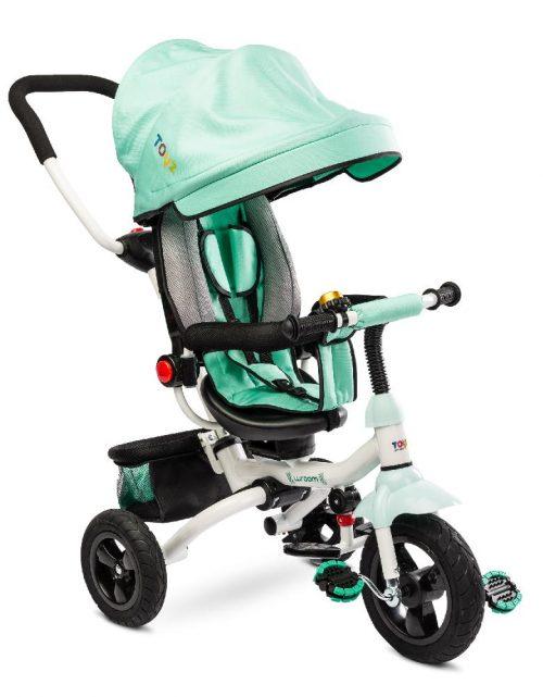 Trójkołowy rowerek z pchaczem dla dziecka Toyz Wroom Turkus