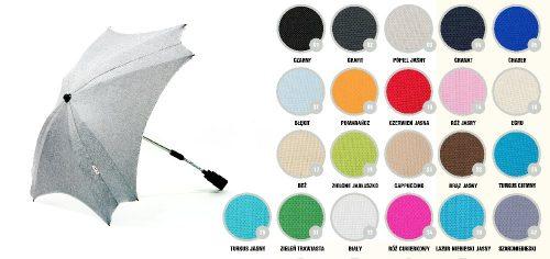 Kwadratowa parasolka przeciwsłoneczka do wózka dziecięcego biały