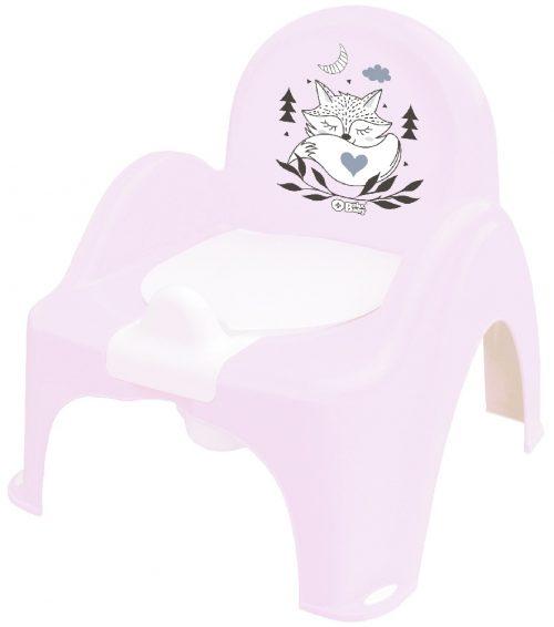Plus Baby Nocnik Krzesełko LIS  jasny różowy Tega Baby