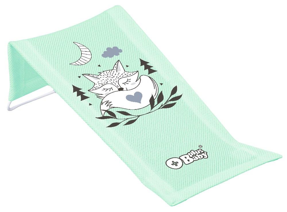 Plus Baby Leżaczek Kąpielowy z Wizerunkiem LIS jasny zielony Tega Baby