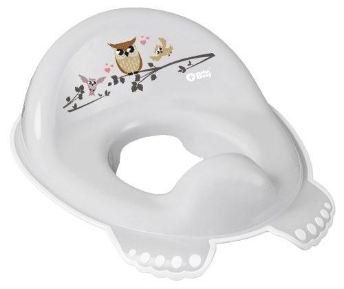 Plus Baby Nakładka sedesowa antypoślizgowa SOWA szary Tega Baby