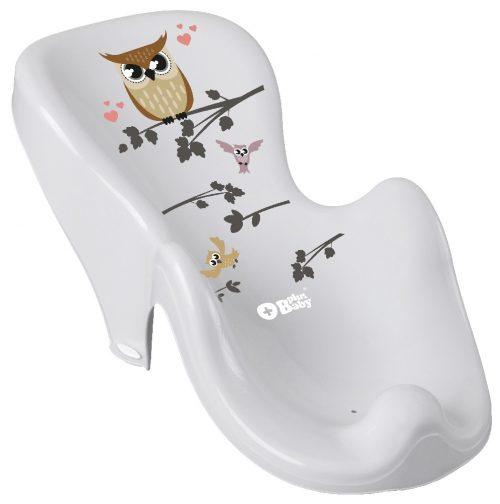 Plus Baby Fotelik do Kąpieli antypoślizgowy SOWA szary Tega Baby