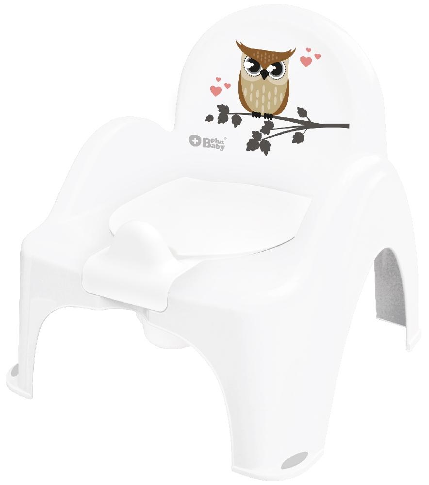 Plus Baby Nocnik Krzesełko Sowa biały Tega Baby