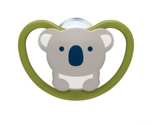 Uspokajający silikonowy smoczek 18-36 Nuk Space koala