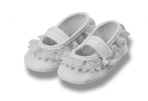 Balerinki bawełniane dla niemowląt rozmiar 11 białe