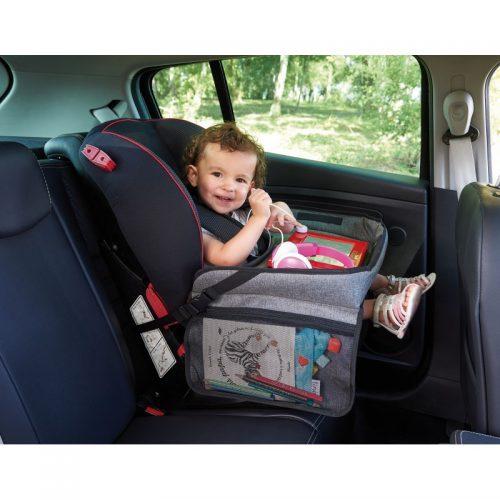Bezpieczny stolik do fotelików samochodowych organizer na fotelik