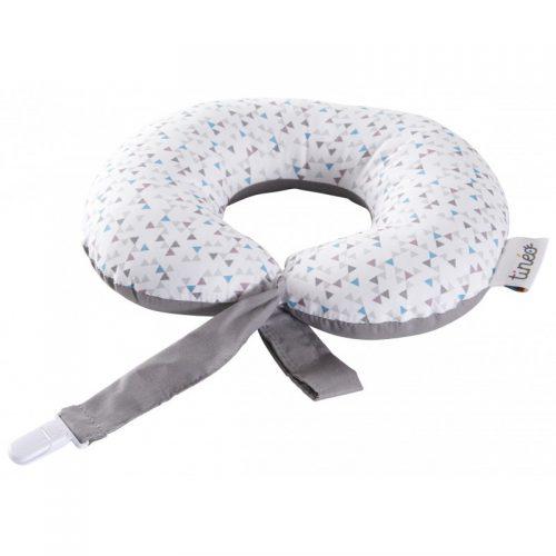 Rogal podróżny poduszka podróżna wraz z zapinką na smoczek gwiazdki