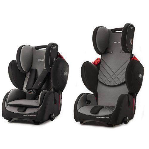 Fotelik samochodowy Recaro Young Sport Hero 9-36 kg kolor Czarbon Black