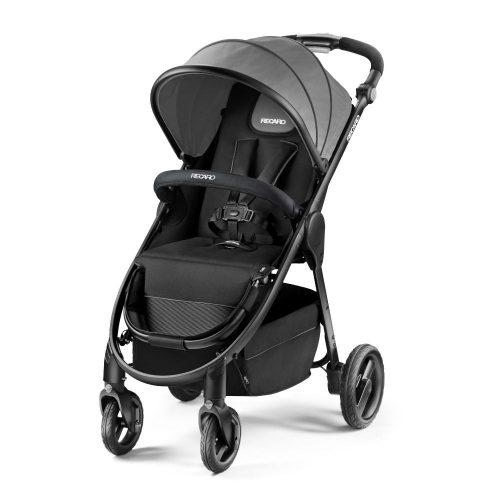 Wózek spacerowy Recaro CityLife z możliwością montażu gondoli i fotelika 0-13 kolor Graphite