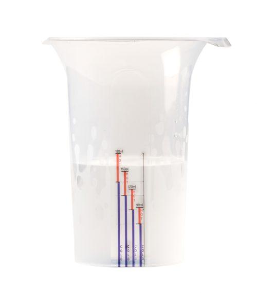 Miarka do odmierzenia wrzątku i zimnej wody do mleka w proszku idealna temperatura mleka