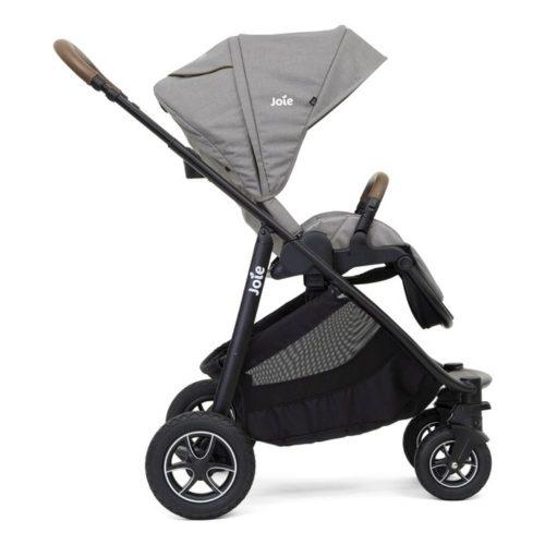 Wózek spacerowy Joie Versatrax z możliwością zamontowania gondoli oraz fotelika 0-13 kg, kolor Grey Flanel