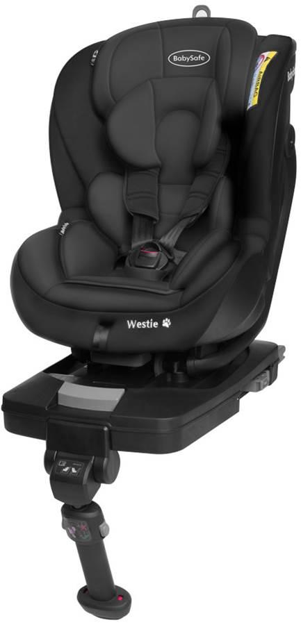 Fotelik samochodowy Westie przodem i tyłem do kierunku jazdy 0-18 kg BabySafe kolor Czarny