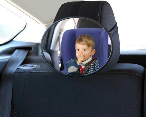 Lusterko do obserwacji dzieci w samochodzie, monowane na zagłowek