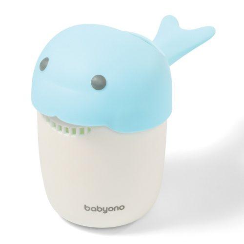Kubek do spłukiwania głowy dziecku Babyono Wale niebieski