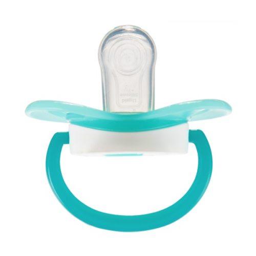 Symetryczny smoczek silikonowy supokajający Canpol Babies So Cool 18m+ turkusowy