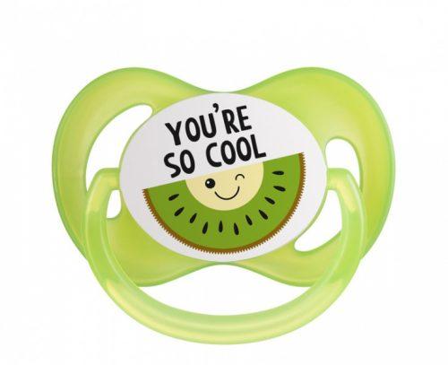 Symetryczny smoczek silikonowy supokajający Canpol Babies So Cool 18m+ zielony