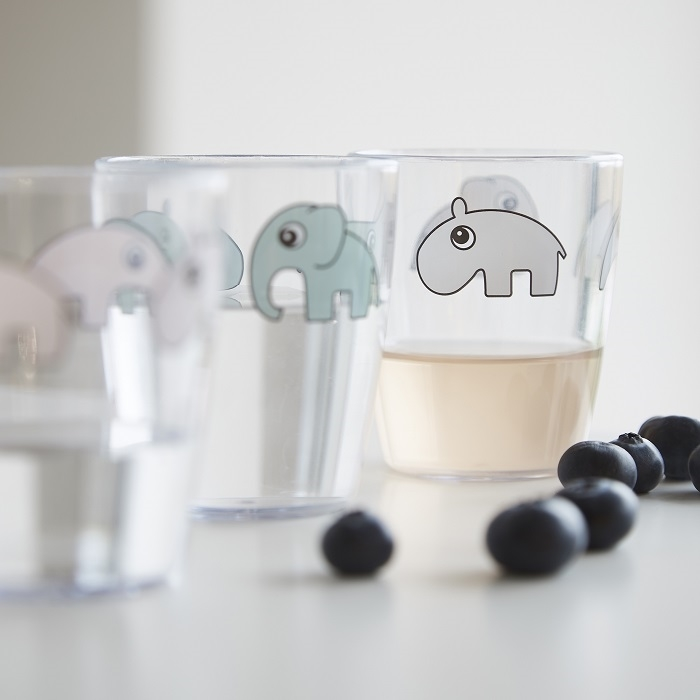 Kubek dla dziecka 120ml Done By Dear Yummy glass grey