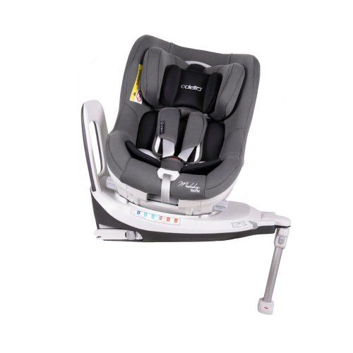 Fotelik samochodowy Coletto Mokka 0-18 kg - obrotowy 360 stopni przodem i tyłem do kirunku jazdy kolor Grey 2019