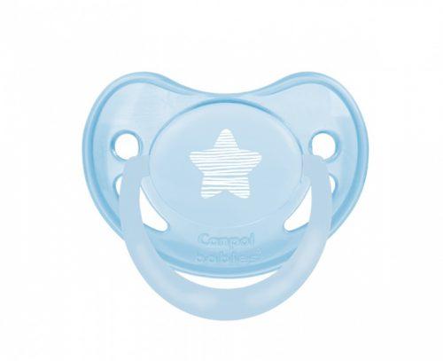 Smoczek anatomiczny silikonowy 18 m+ PASTELOVE Canpol Babies niebieski