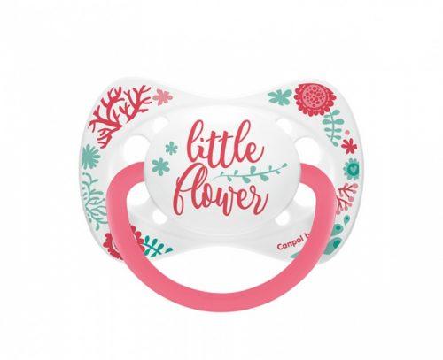 Silikonowy smoczek do uspokajania symetryczny Canpol Babies Wild Nature 18m+ kolor Różowy
