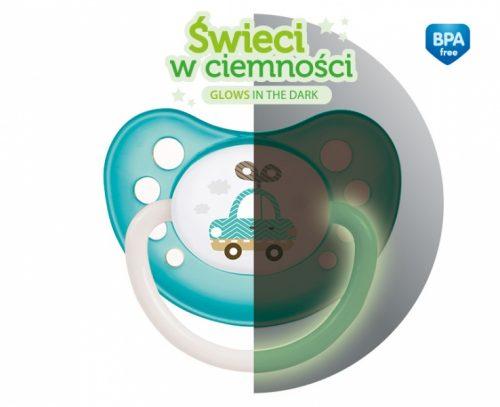 Silikonowy smoczek do uspokajania symetryczny Little Cutie Canpol Babies 6-18m kolor Niebieski
