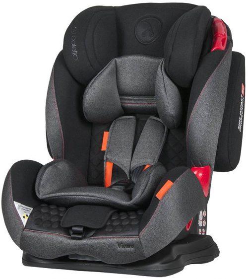 Fotelik samochodowy Coletto Vivaro 9-36 kg kolor Black