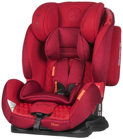 Fotelik samochodowy Coletto Vivaro 9-36 kg kolor Red