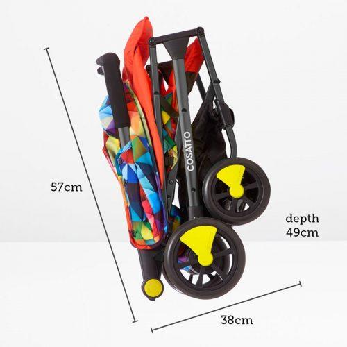 Wózek spacerowy Cosatto Woosh z pałąkiem kolor Spectroluxe